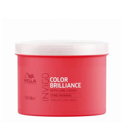 Wella Invigo Color Brilliance Vibrant Color Mask 500ml - cabello fino/normal