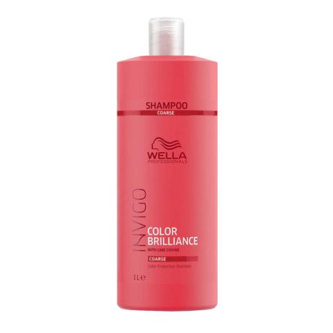 Wella Invigo Color Brilliance Color Protection Shampoo 1000ml - cabello grueso