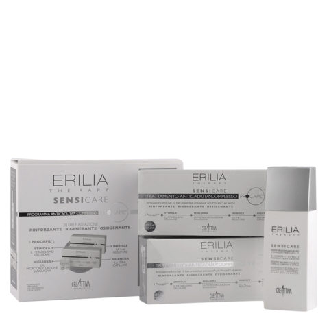 Erilia Sensicare Procapil Kit Anti Perdida de Cabello: shampoo 250ml + viales 20x8ml