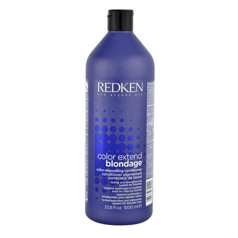 Redken Color extend Blondage Conditioner 1000ml - bálsamo pelo rubio