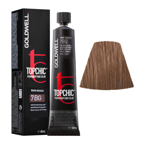 7BG Rubio medio dorado beige Goldwell Topchic Warm browns tb 60ml