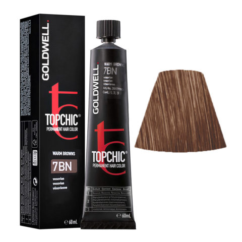7BN Vesubio Goldwell Topchic Warm browns tb 60ml