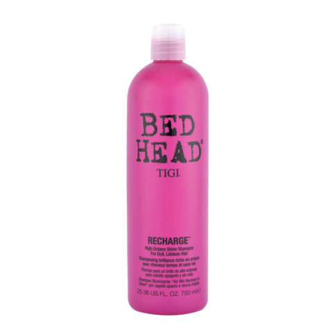 Tigi Bed Head Recharge Shampoo 750ml - champù para un brillo de alto octanaje