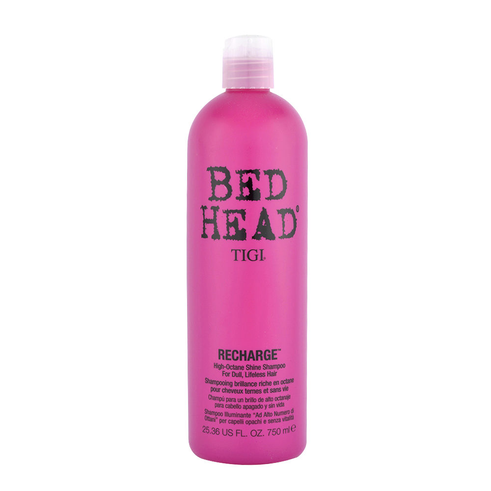 Tigi Bed Head Recharge Shampoo 750ml - Champù Para un Brillo de Alto Octanaje