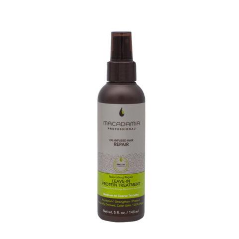 Macadamia Nourishing Suero proteico sin aclarado para cabello dañado 148 ml