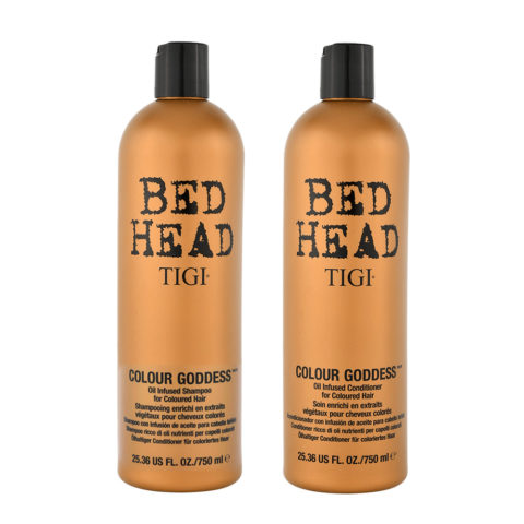 Tigi Colour Goddess Kit Champu 750ml Acondicionador 750ml Para Pelo Teñido
