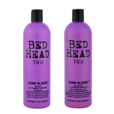 Tigi Bed head Dumb blonde Kit Shampoo 750ml + Conditioner 750ml Para Cabello Rubio Tratado Quìmicamente