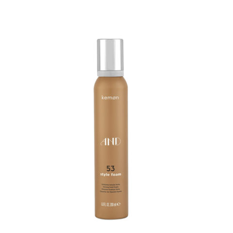 Kemon And Styling 53 Style foam 200ml - espuma de fijación forte
