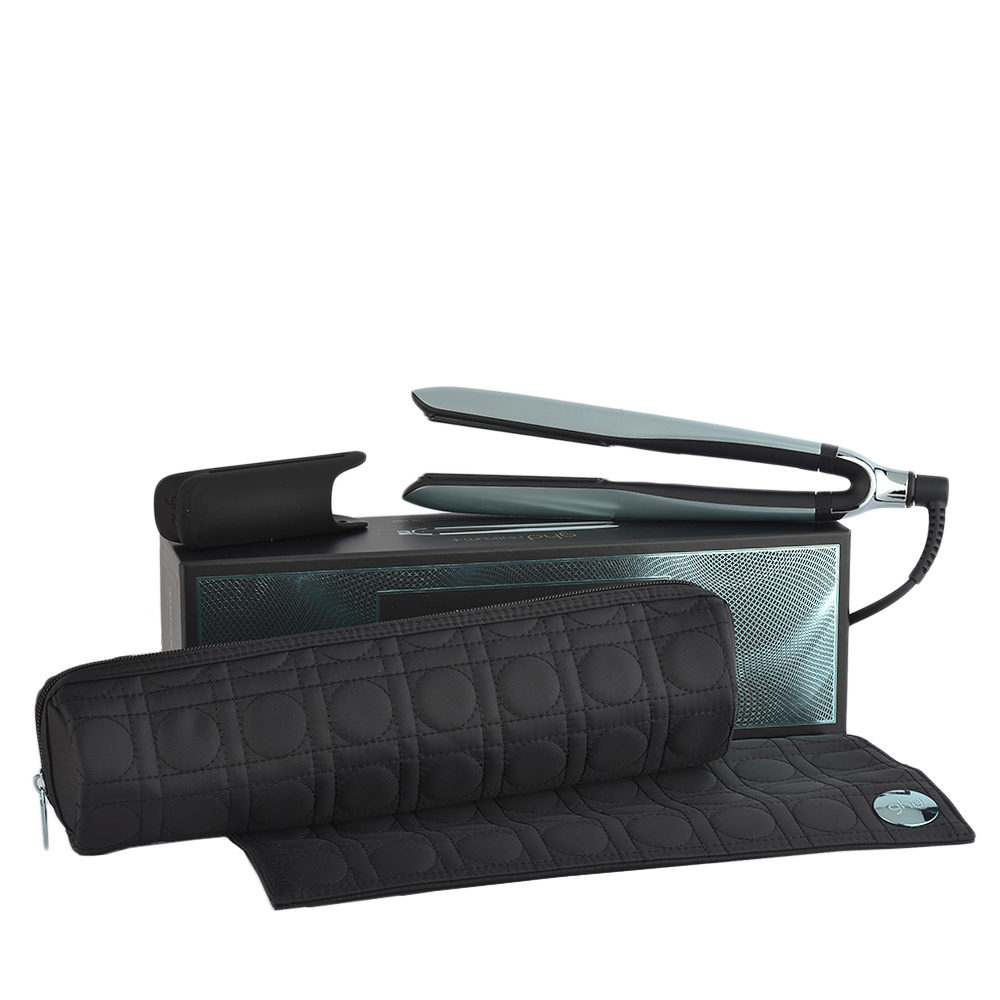 GHD Platinum + Styler Glacial Blue Collect. with Heat-resistant Bag - plancha con necéser térmico