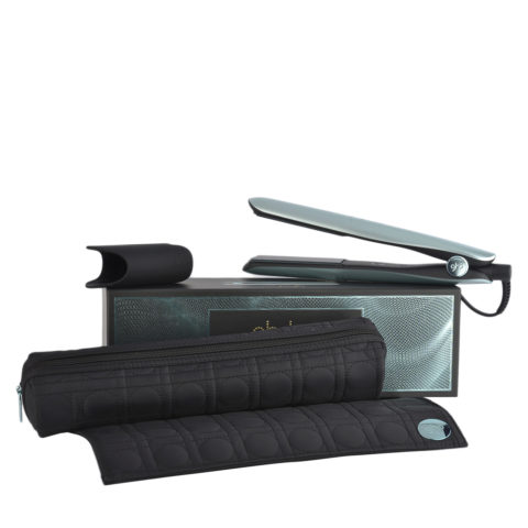 GHD Gold Professional Styler Glacial Blue Collect. with Heat-resistant Bag - plancha con necéser térmico