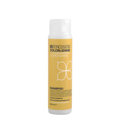 Intercosmo Color & Shine Supershine Shampoo 300ml - champú nutritivo iluminante con semillas de lino