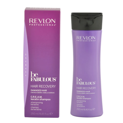Revlon Be Fabulous Hair Recovery Cream Keratin Shampoo 250ml - champú reestructurante