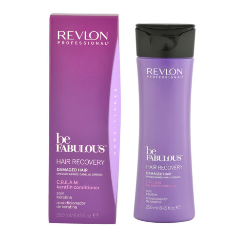 Revlon Be Fabulous Hair Recovery Cream Keratin Conditioner 250ml - bálsamo de reestructuración