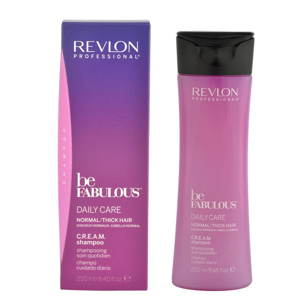 Revlon Be Fabulous Daily care Normal / thick hair Cream Shampoo 250ml - Champú regenerador de cabello medio a grande