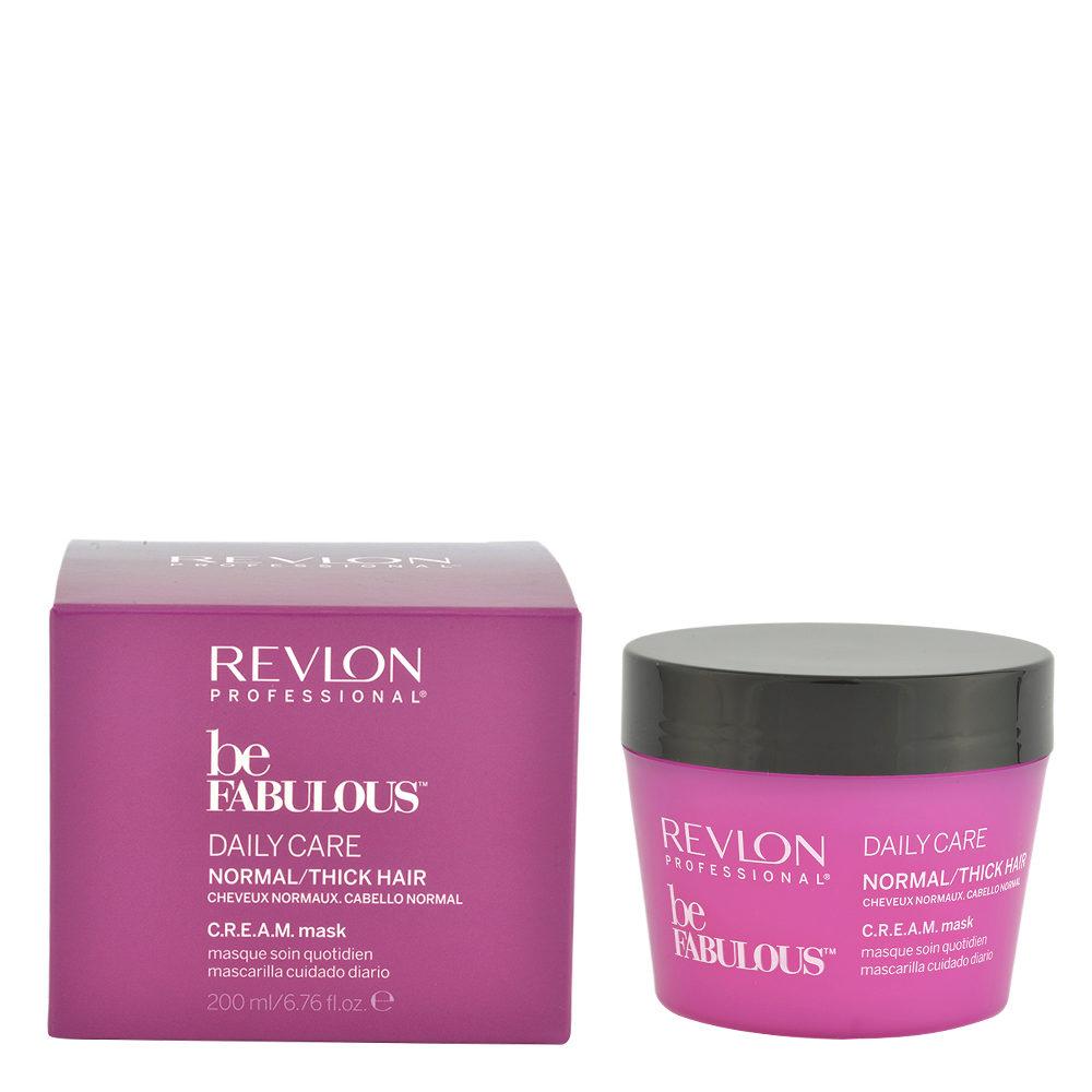 Revlon Be Fabulous Daily care Normal / thick hair Cream Mask 200ml - Mascarilla regeneradora para cabello mediano a gran