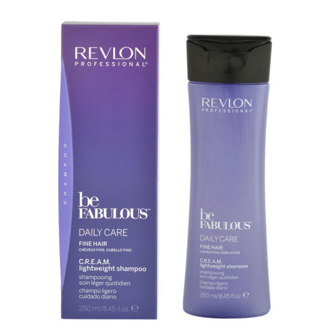 Revlon Be Fabulous Daily care Fine hair Cream Lightweight shampoo 250ml - champú ligero cabello fino