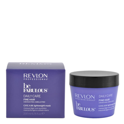 Revlon Be Fabulous Daily Care Fine Cream Mask 200ml - mascarilla delgada de pelo claro