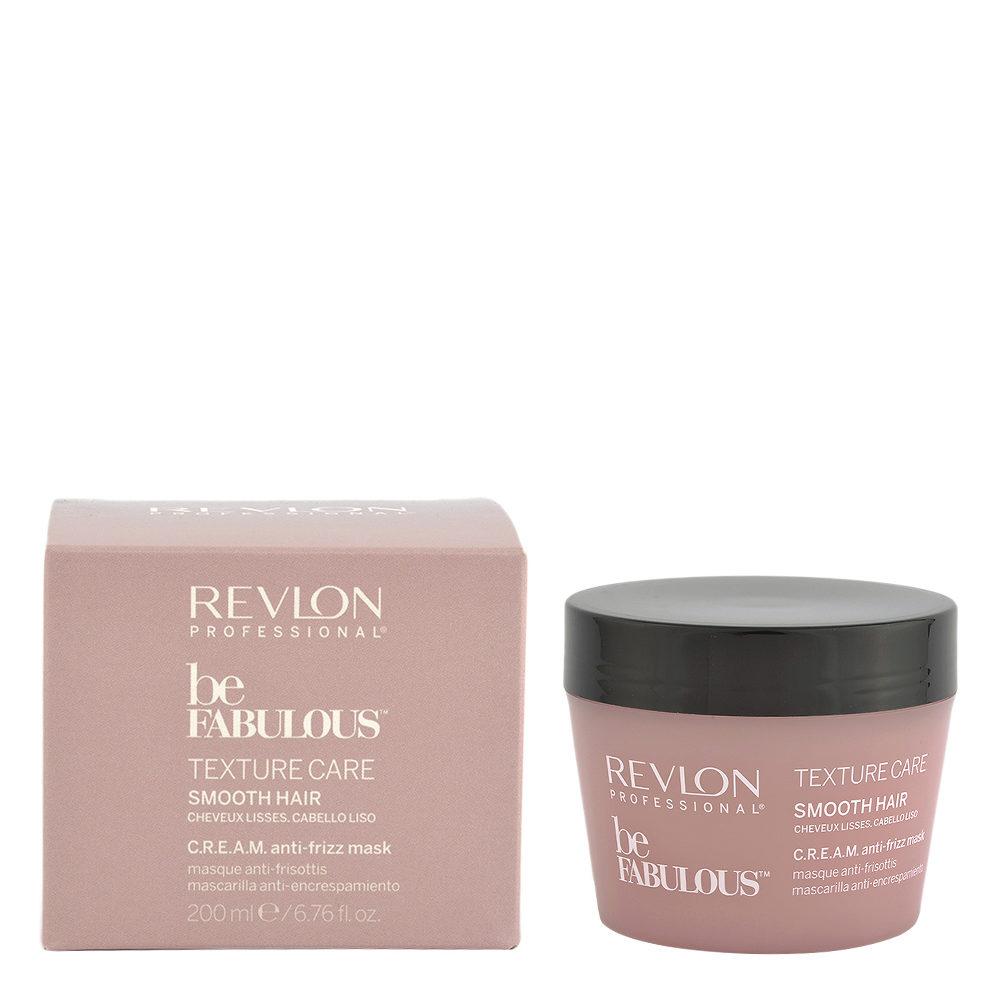 Revlon Be Fabulous Smooth hair Cream Anti-frizz Mask 200ml - mascarilla anti-frizz pelo lacio