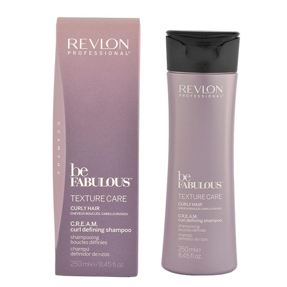 Revlon Be Fabulous Curly hair Cream Curl defining Shampoo 250ml - champú definición pelo rizado