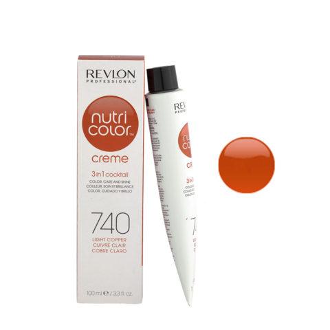 Revlon Nutri Color Creme 740 Cobre claro 100ml - mascara color