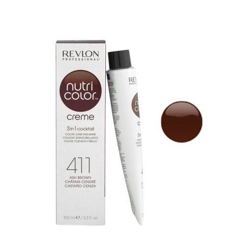Revlon Nutri Color Creme 411 Castaño ceniza 100ml - mascara color
