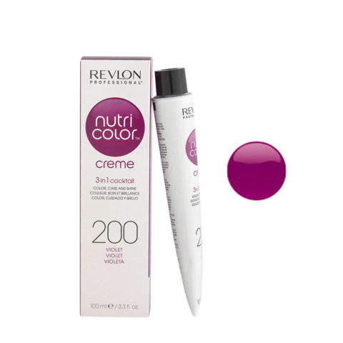 Revlon Nutri Color Creme 200 Violeta 100ml - mascara color