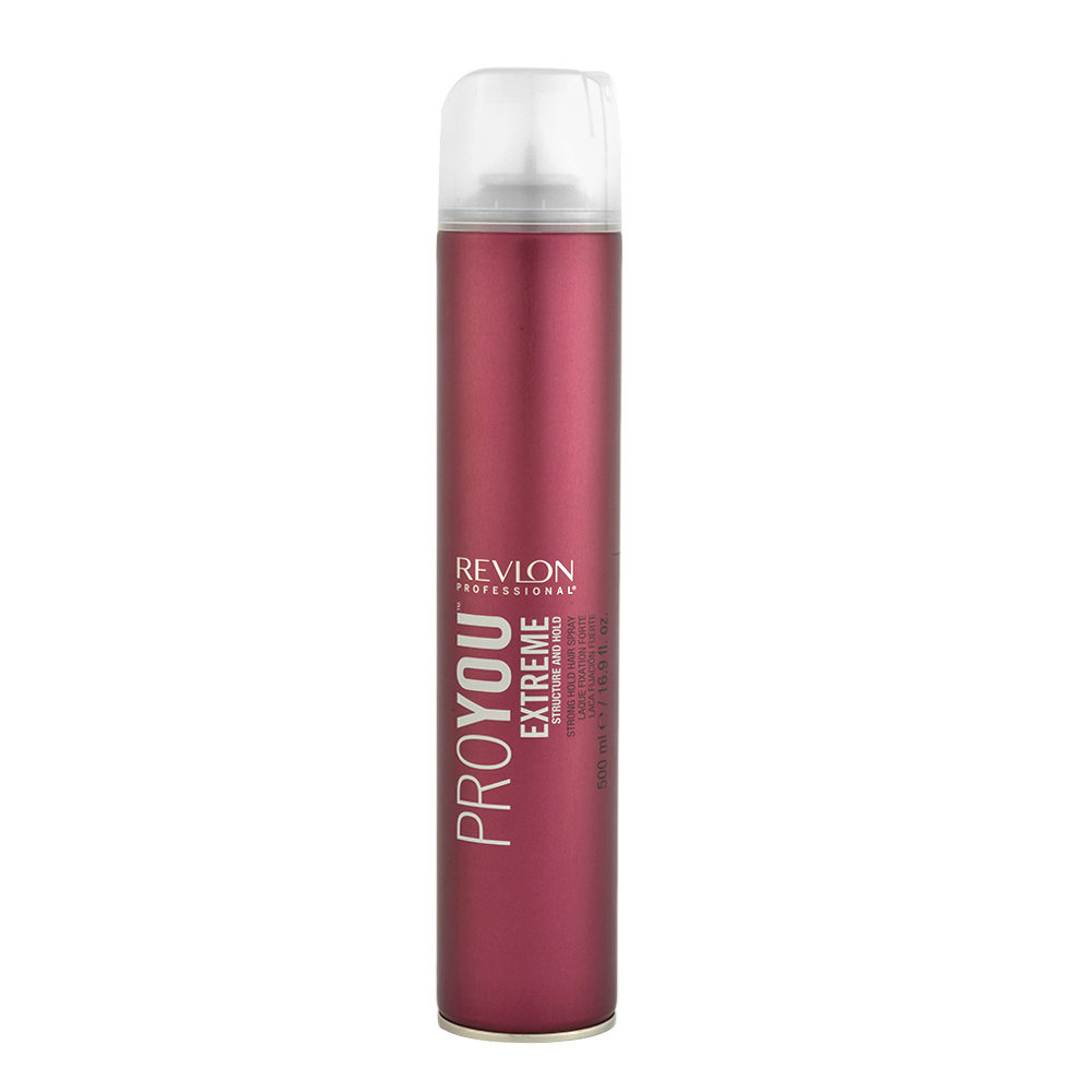 Revlon Pro You Extreme Structure and hold Strong hold Hair Spray 500ml - laca fuerte