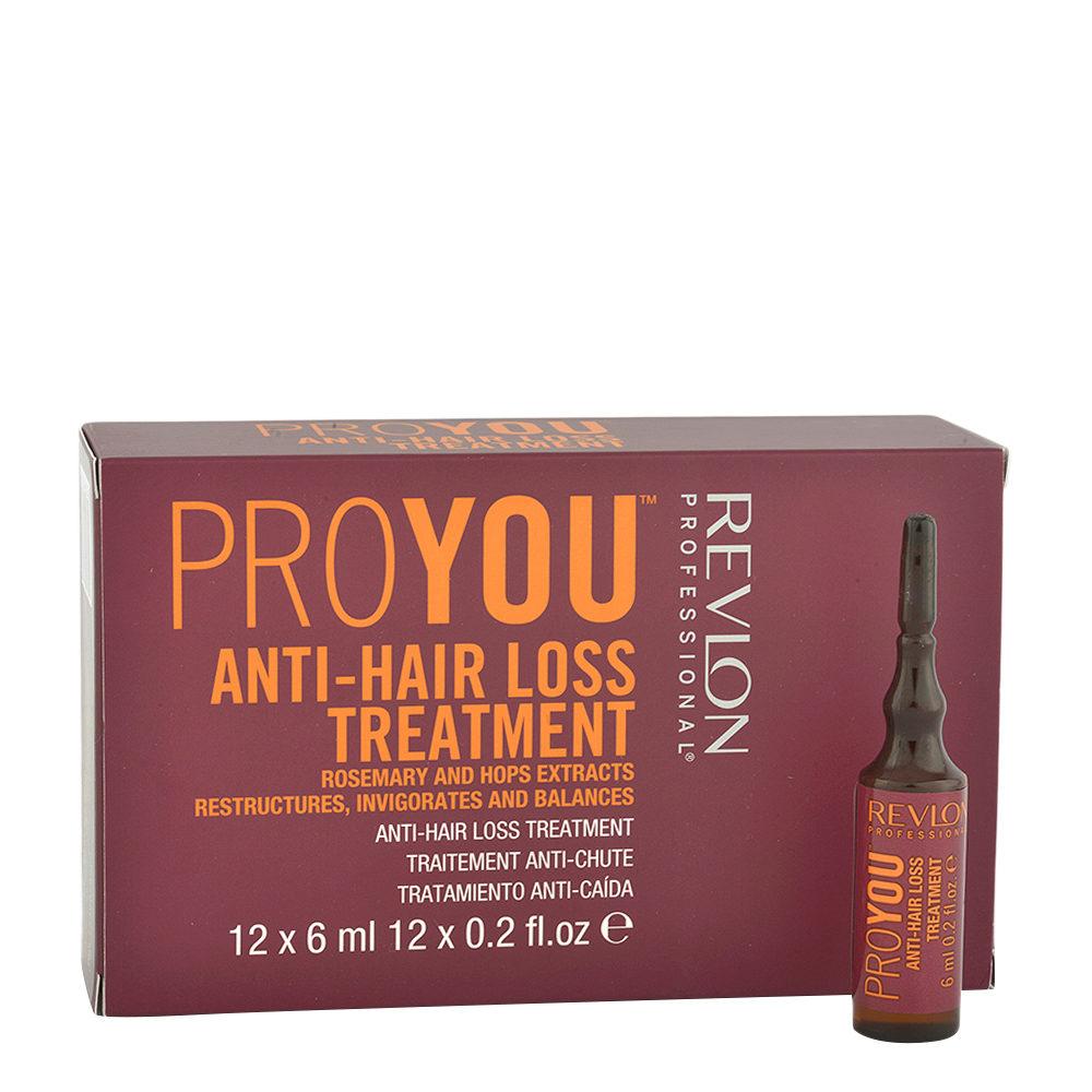 Revlon Pro You Anti-Hair Loss Treatment 12x6ml - Ampollas Anticaída