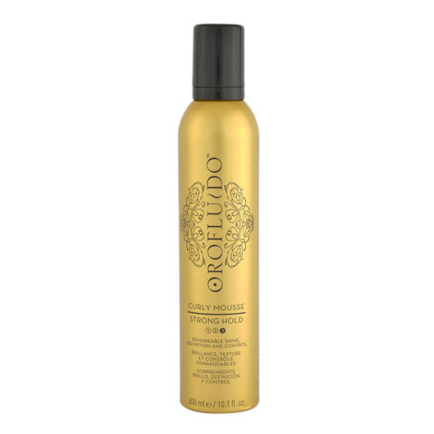 Orofluido Curly Mousse Strong Hold 300ml - espuma de definicion y control