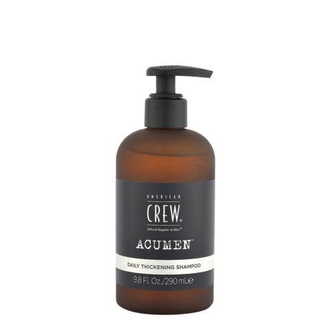 American Crew Acumen Daily Thickening Shampoo 290ml - Cabello Fino