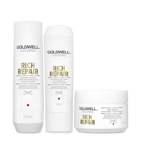 Goldwell rich repair Shampoo 250ml Conditioner 200ml Mask 200ml