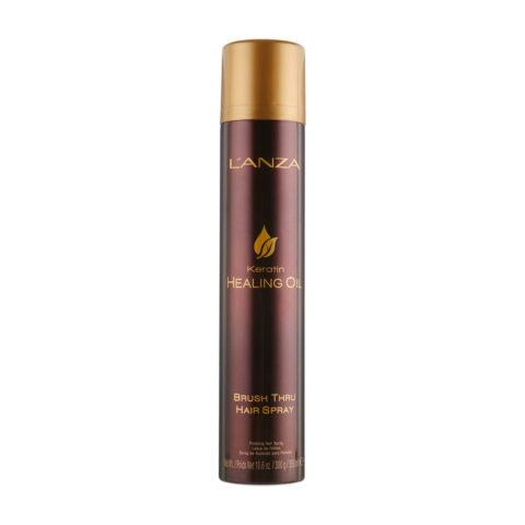 L' Anza Healing Oil Brush Thru Hairspray 350ml - Laca fijaciòn flexible
