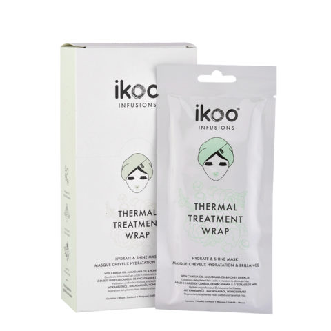 Ikoo Infusions Thermal treatment wrap Hydrate & shine mask 5x35g - Mascarilla de hidratación y brillo