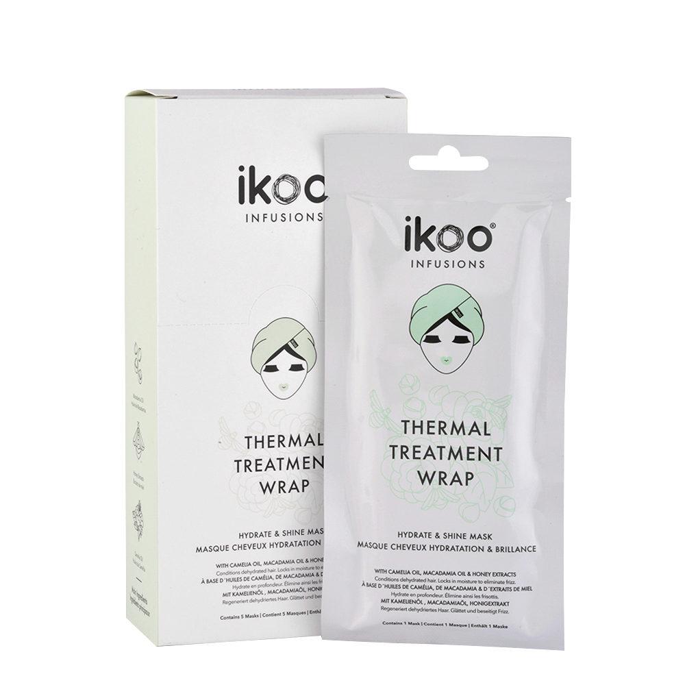 Ikoo Thermal treatment wrap Hydrate & Shine Mask 5x35g - Mascarilla de Hidratación y Brillo