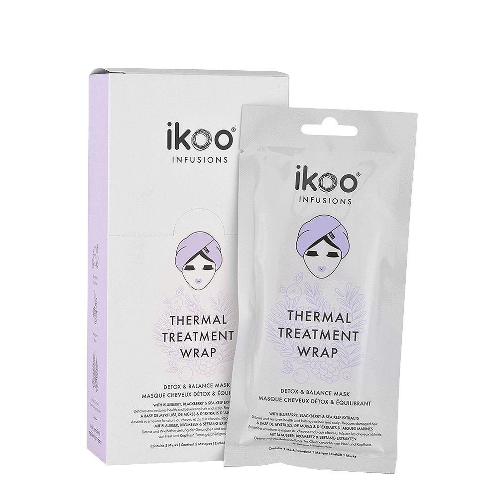 Ikoo Thermal treatment wrap Detox & balance mask 5x35g - Mascara Equilibrante Purificante