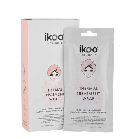 Ikoo Infusions Thermal treatment wrap Color protect & repair 5x35g - mascarilla reestructurante cabello coloreado