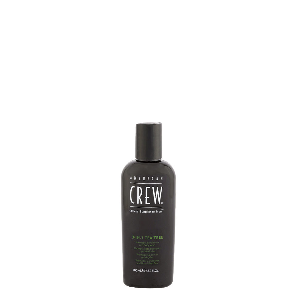 American crew Tea Tree 3-in-1 Shampoo Conditioner and Body Wash 100ml