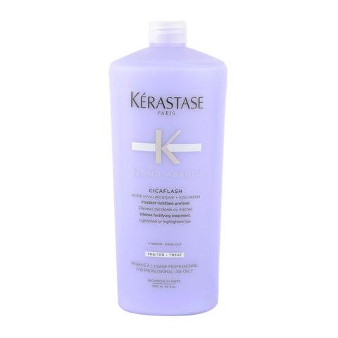 Kerastase Blond Absolu Cicaflash 1000ml - Acondicionador Fortificante Hidratante Cabello Rubio