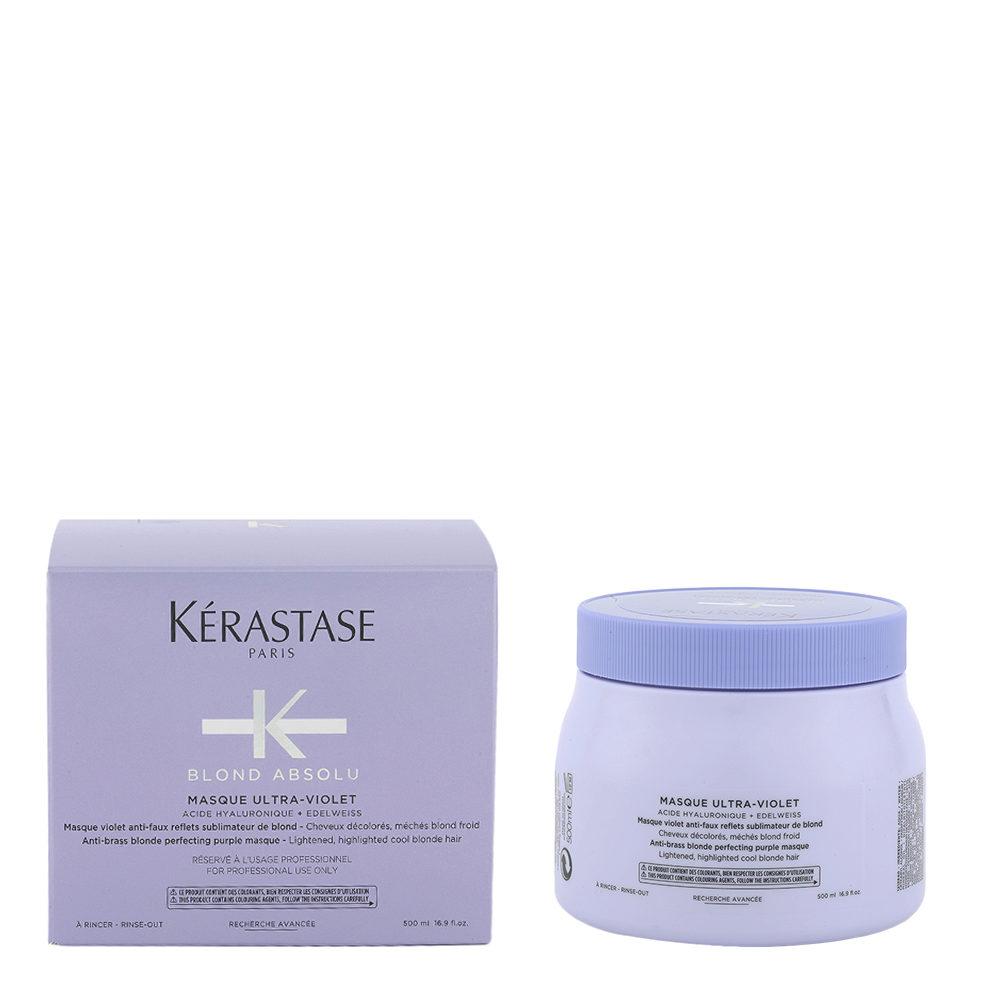 Kerastase Blond Absolu Masque ultra violet 500ml - Màscara anti amarillo para cabello rubio o gris