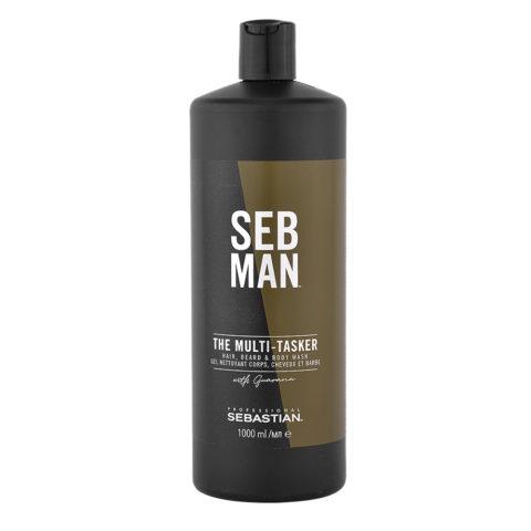Sebastian Man The Multitasker Hair Beard & Body Wash 1000ml - Champù 3 en 1