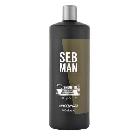 Sebastian Man The Smoother Rinse Out Conditioner 1000ml - Acondicionador Hidratante
