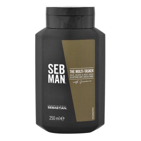Sebastian Man The Multitasker Hair Beard & Body Wash 250ml - Champù 3 en 1