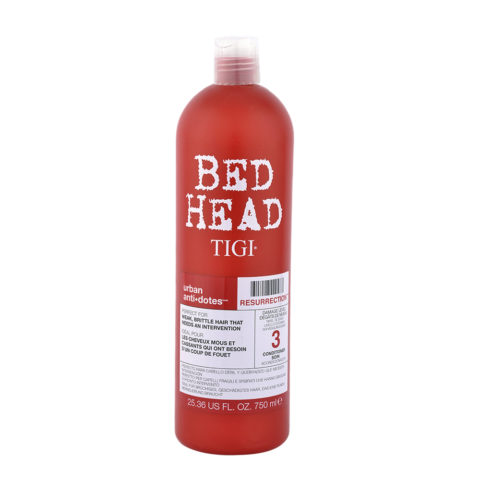 Tigi Urban Antidotes Resurrection Conditioner 750ml - Acondicionador de Reestructuración Nivel 3