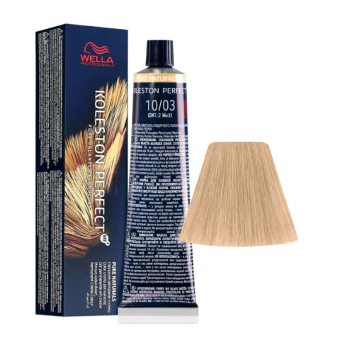 10/03 Rubio Super Claro Natural Dorado Wella Koleston perfect Me+ Pure Naturals 60ml