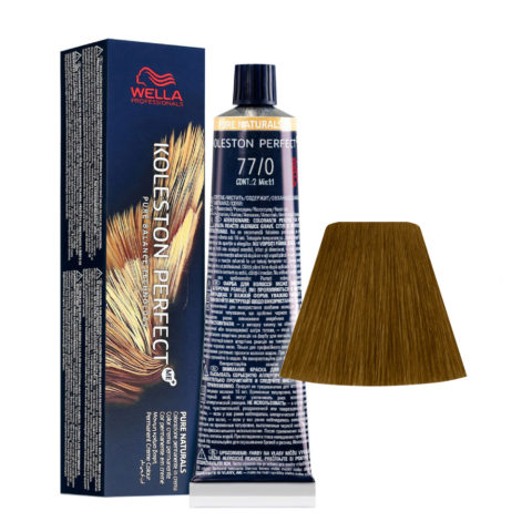 77/0 Rubio Medio Intenso Wella Koleston perfect Me+ Pure Naturals 60ml