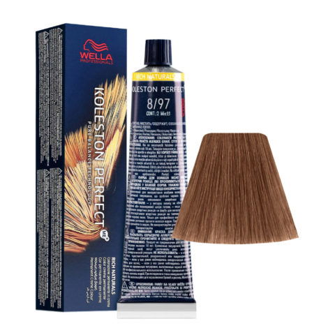 8/97 Rubio Claro Cendré Marròn Wella Koleston perfect Me+ Rich Naturals 60ml