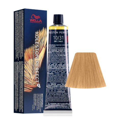 10/31 Rubio Super Claro Dorado Ceniza Wella Koleston perfect Me+ Rich Naturals 60ml