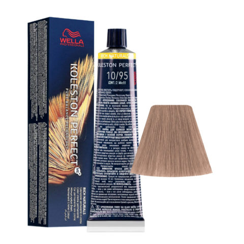 10/95 Rubio Super Claro Cendré Caoba Wella Koleston perfect Me+ Rich Naturals 60ml