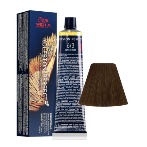 6/3 Rubio Oscuro Dorado Wella Koleston perfect Me+ Rich Naturals 60ml