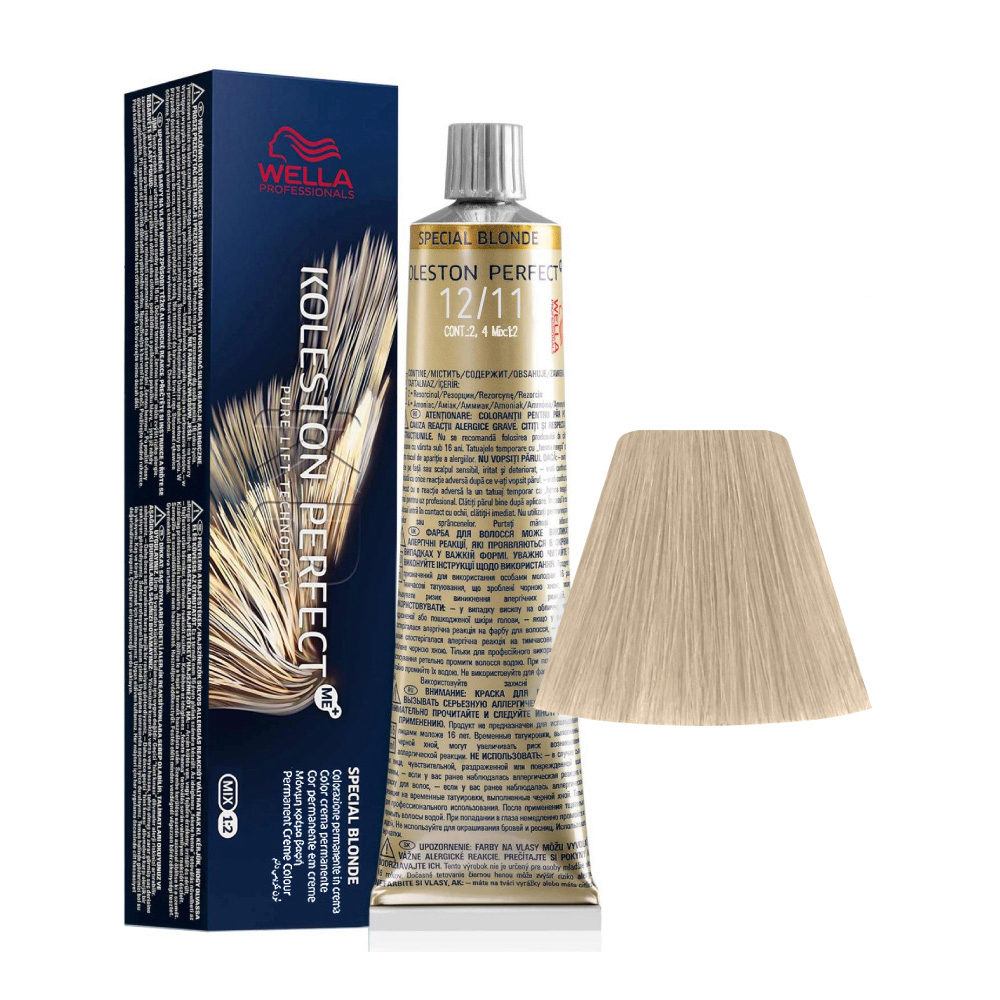 12/11 Superaclarante Rubio Ceniza Intenso Wella Koleston perfect Me+ Special Blondes 60ml